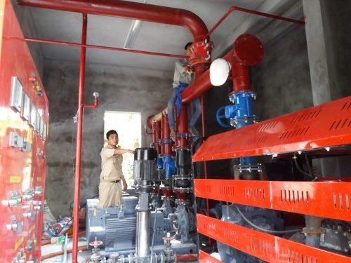 Bảo dưỡng định kỳ máy bơm tại nhà máy Z129, Yên Bái, Bộ Quốc Phòng