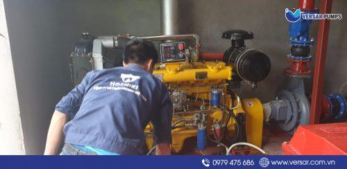 Cung cấp, thi công lắp đặt máy bơm chữa cháy Versar tại tỉnh Hưng Yên