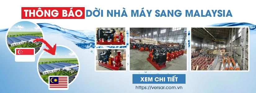 Máy bơm nước Versar nhập khẩu từ Malaysia